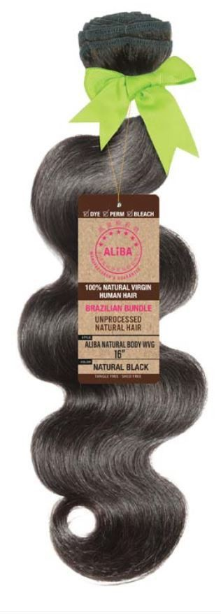 "Aliba 9s+ Human Hair Body Wave Bundle 18"" Natural Black 1 Bundle of 18"""