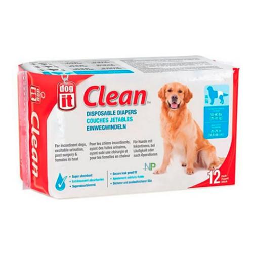 Pañales desechables (XL) para perros 12 unidades