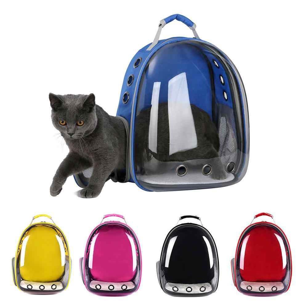 Mochila transparente  de transporte para gatos y perros