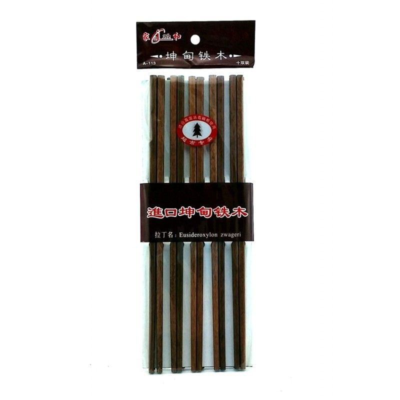 Palillos chinos de madera 10 pares