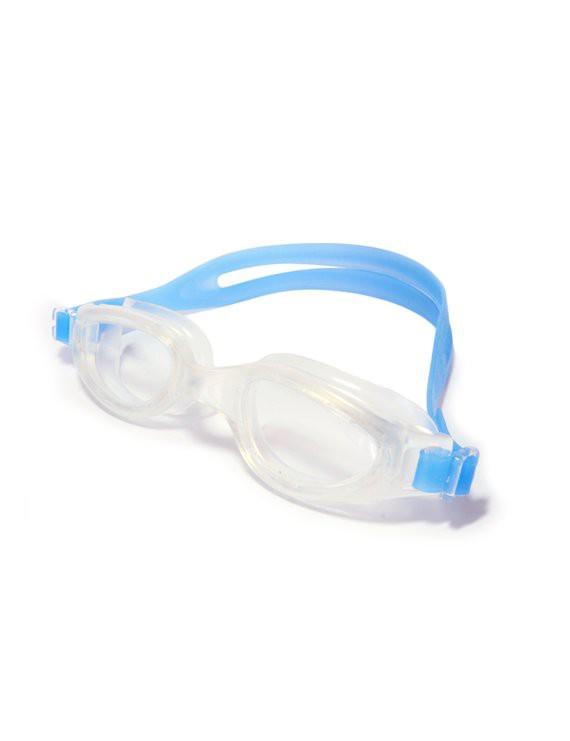 Lente para natación con correa de silicona azul