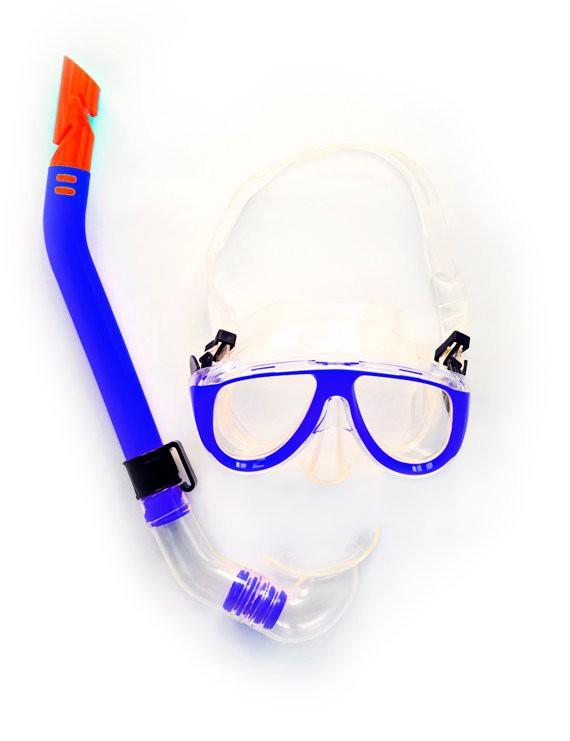 Lente de natacion snorkel azul adulto