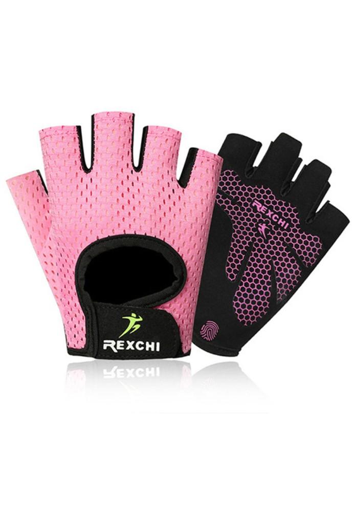 Guantes deportivos rosados