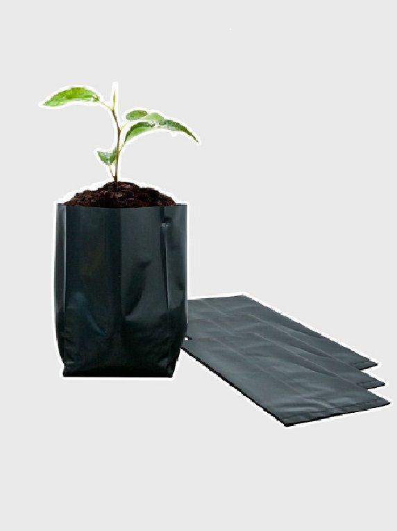 Bolsa plástica para almácigo y plantas 15×15 – 100 unidades