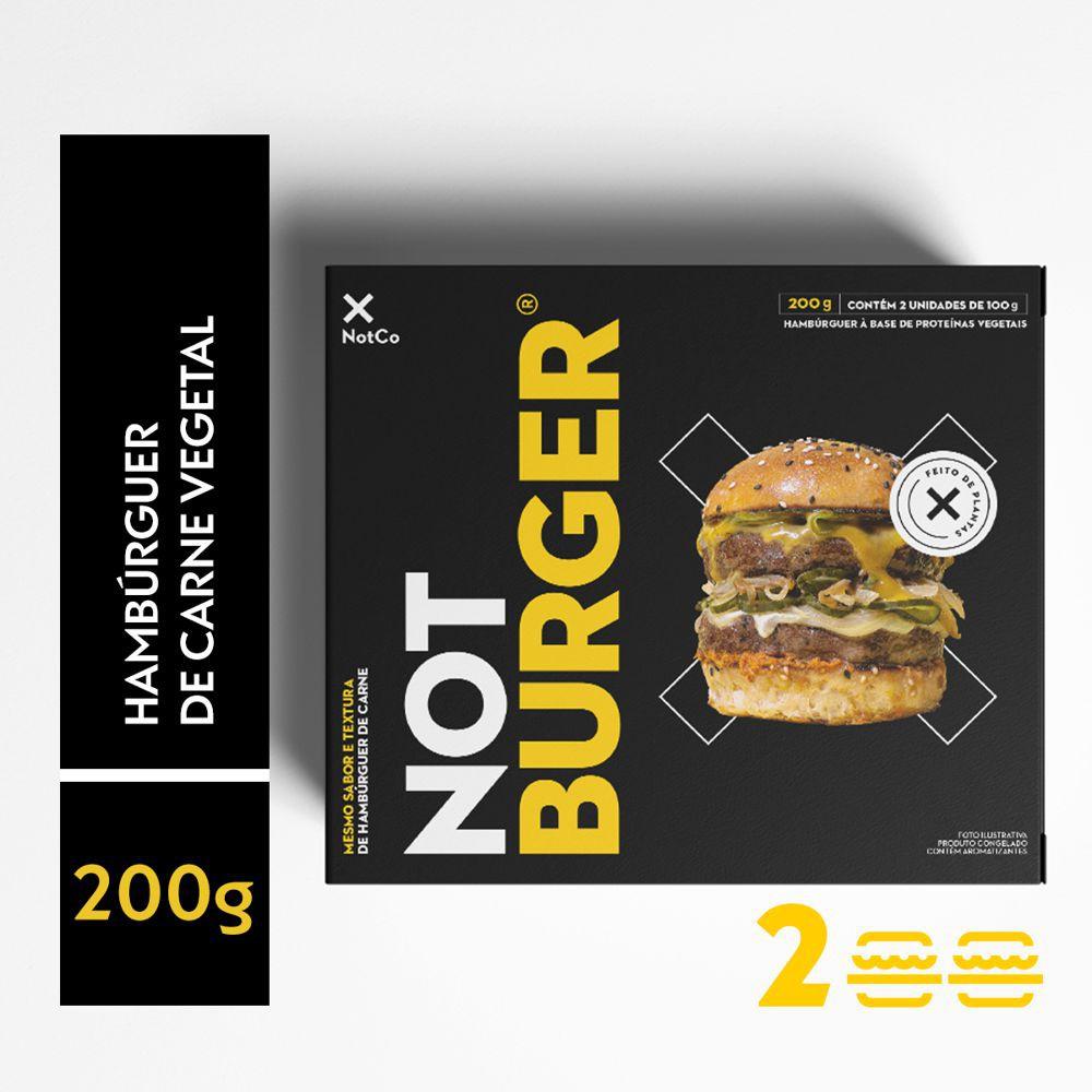 Hambúrguer de carne vegetal Not Burger