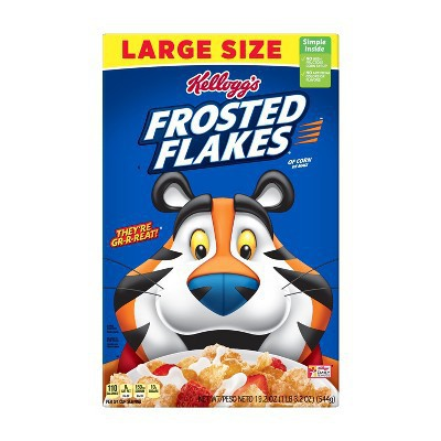 Frosted Flakes Cereal Large Size 19 oz