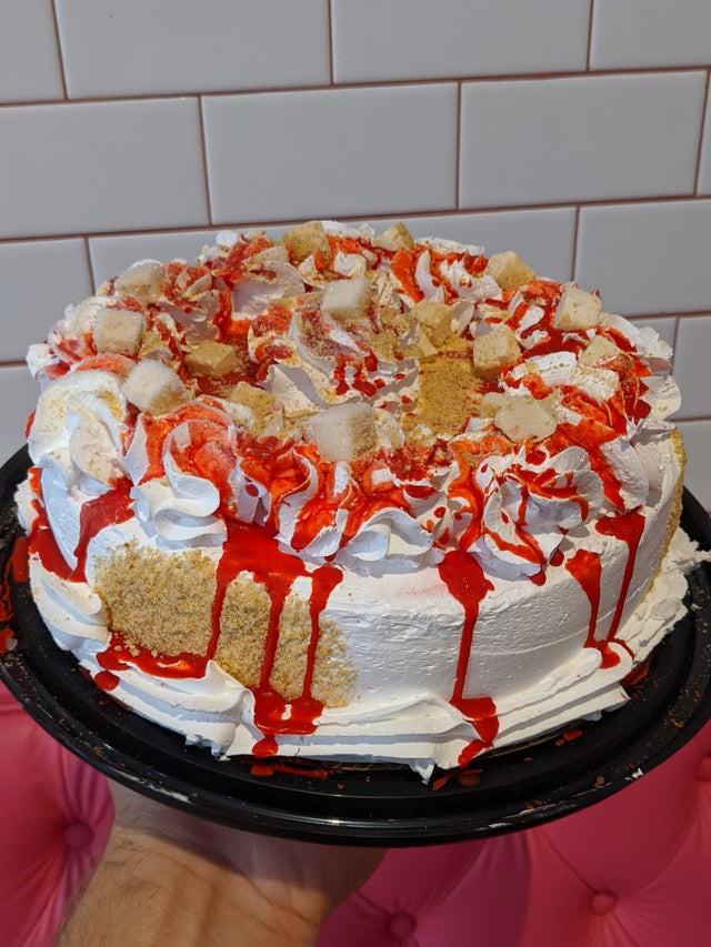 Strawberry cheesecake ice cream cake 1 Cake