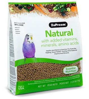 Natural parakeet 2.5lb Bag