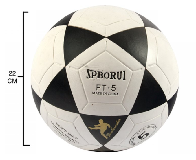 Pelota fútbol n°5 sin costura 22 cm