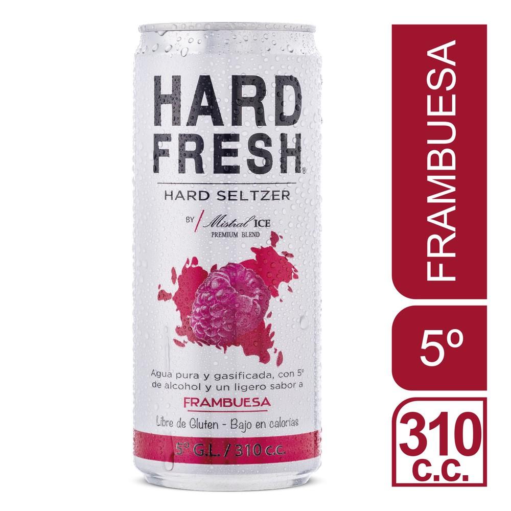 Hard seltzer frambuesa 5°