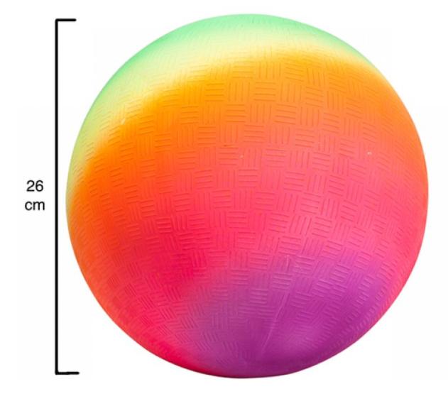 Pelota fluor arcoiris 1 un