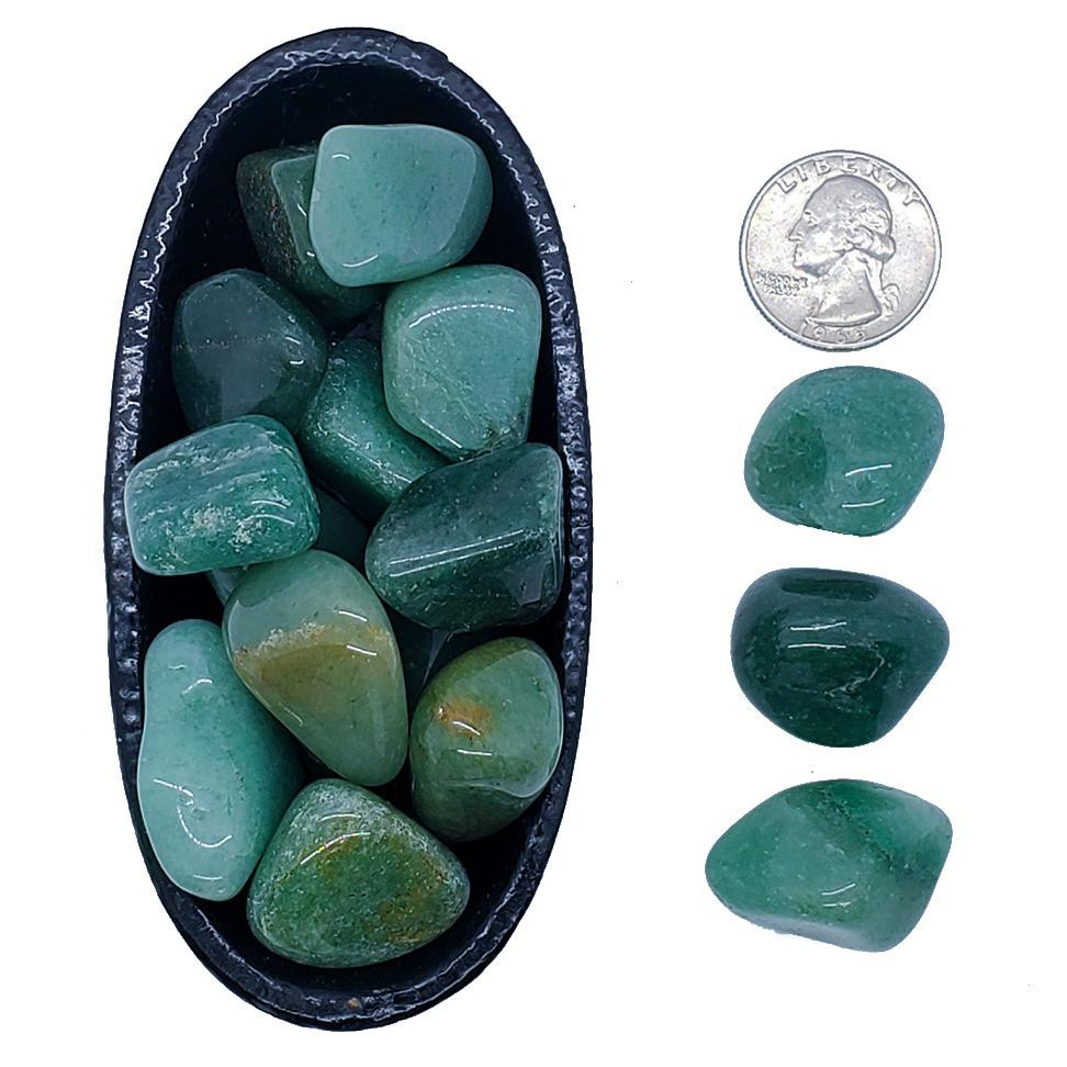 Aventurine, green - wealth, health, happiness, luck and peace 1 unit