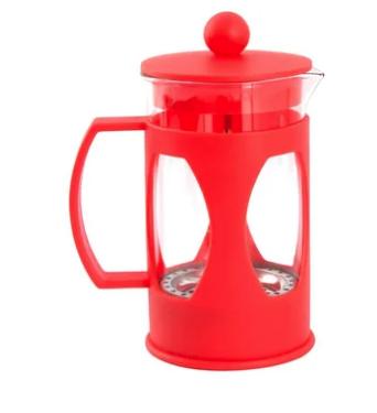 Cafetera francesa roja 600 ml