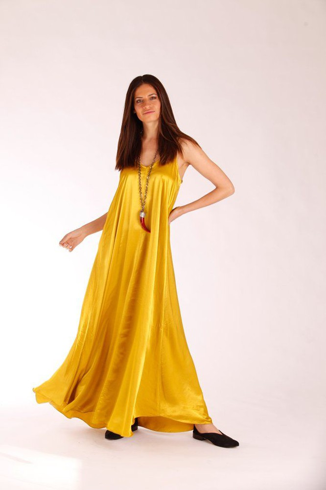 Vestido Lourdes amarillo 1