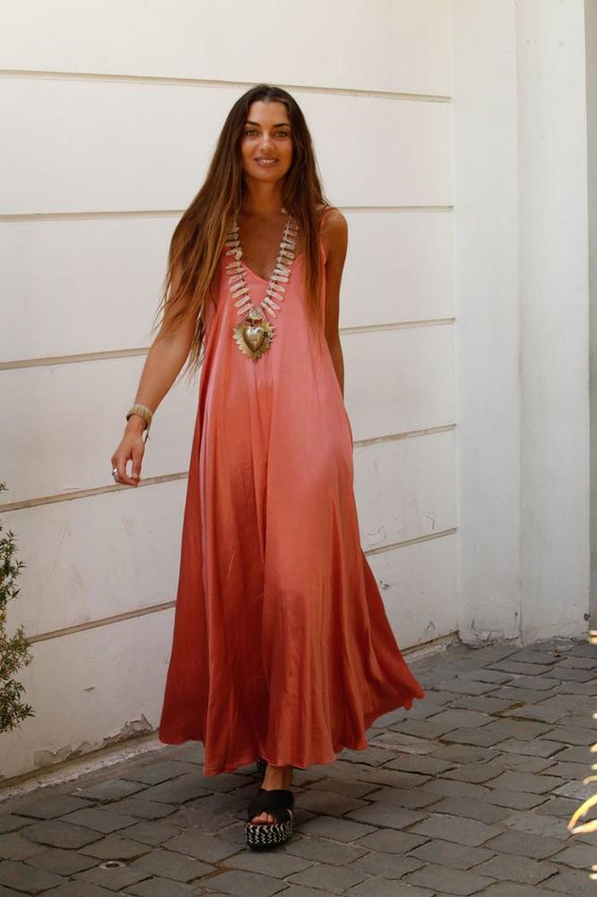 Vestido Lourdes coral 1