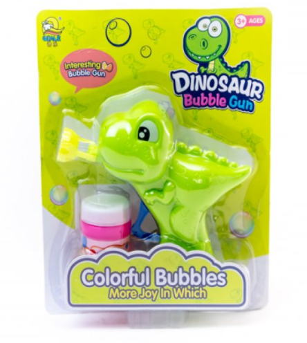 Lanza burbujas dinosaurio manual 22x16