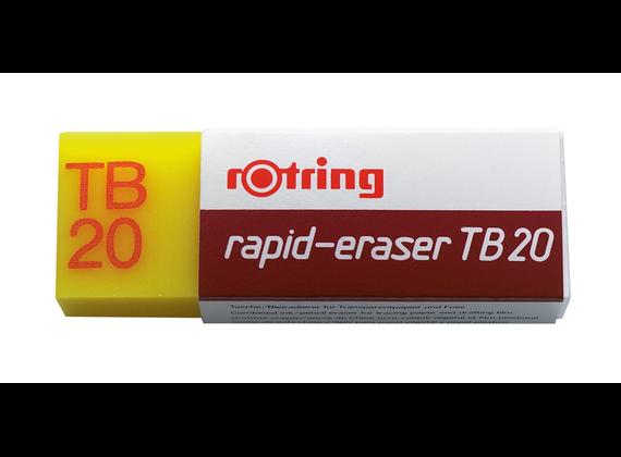 Goma de borrar tinta y grafito rotring tb20 rapid (20 unidades)