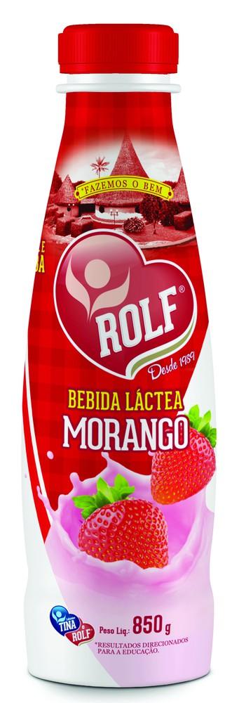 Bebida láctea sabor morango