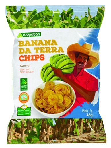 Banana da terra chips