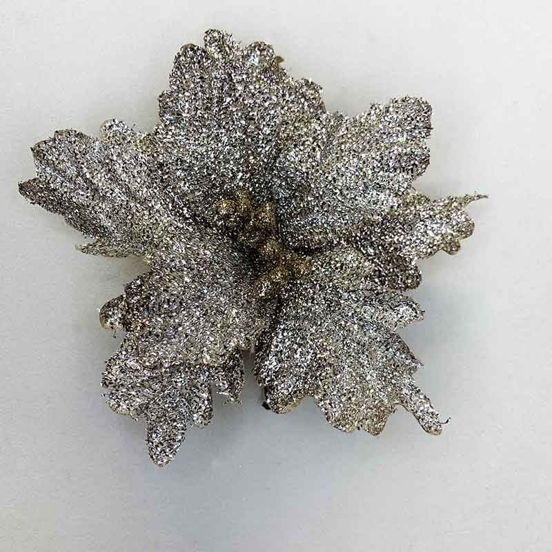 Poinsettia escarchada 33 X 28 CM