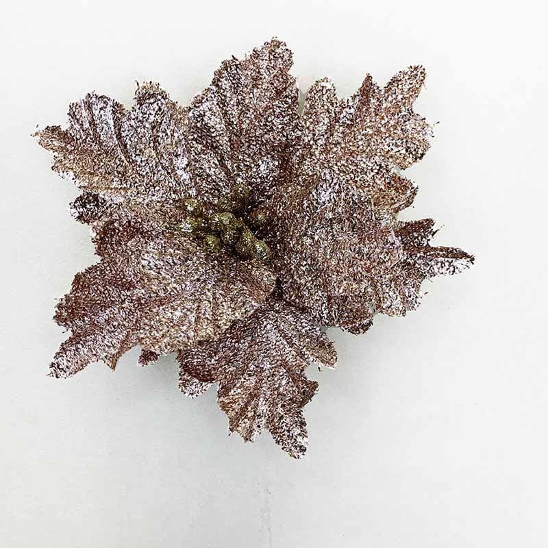 Poinsettia rosa 33 X 28 CM