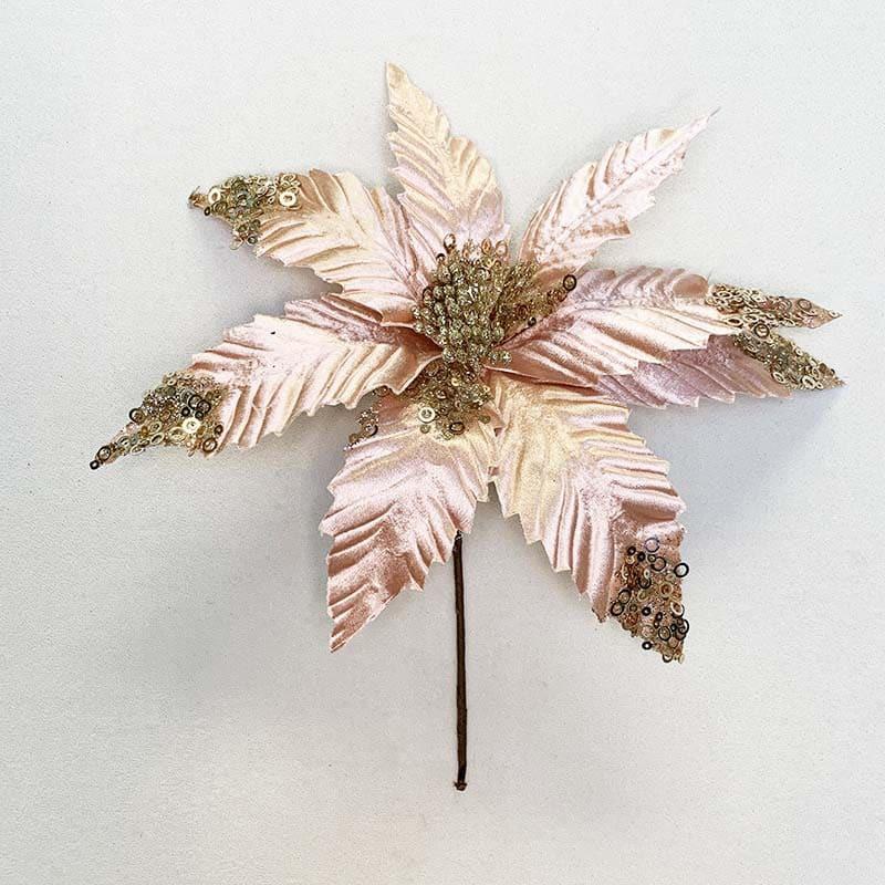 Poinsettia rosada 2 33 X 28 CM