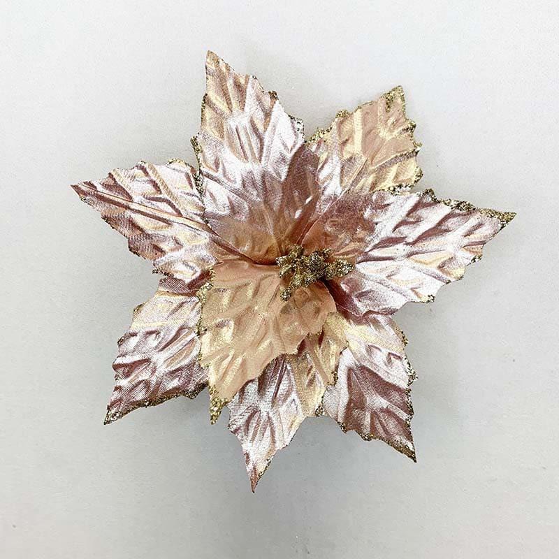 Poinsettia rosada 33 X 27 CM