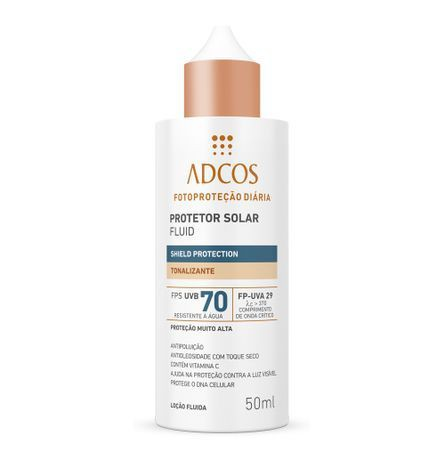 Filtro solar fluid shieldprotection fps70 bronze 50ml Embalagem 50 ML