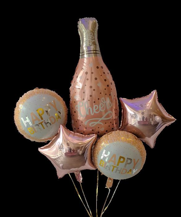 Cheers birthday! bouquet Bouquet de 5 globos
