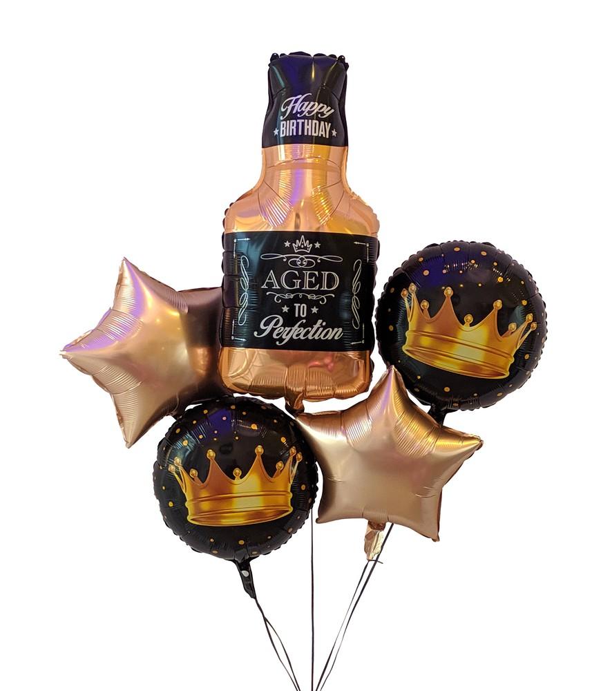 Cheers! happy birthday bouquet Bouquet de 5 globos