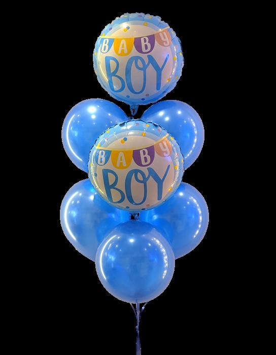Baby boy bouquet Bouquet de 7 globos