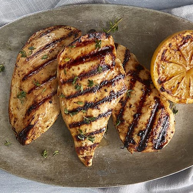 Iqf chicken breasts marinated