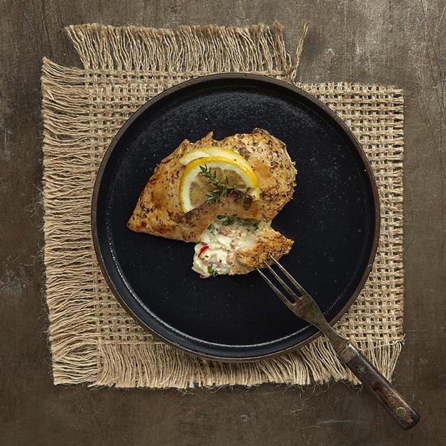 Stuffed chicken breast santorini