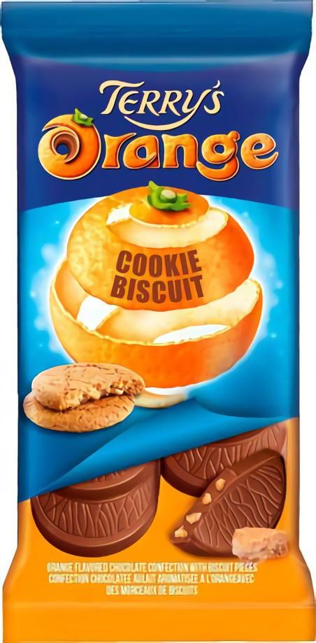 Orange cookie bar