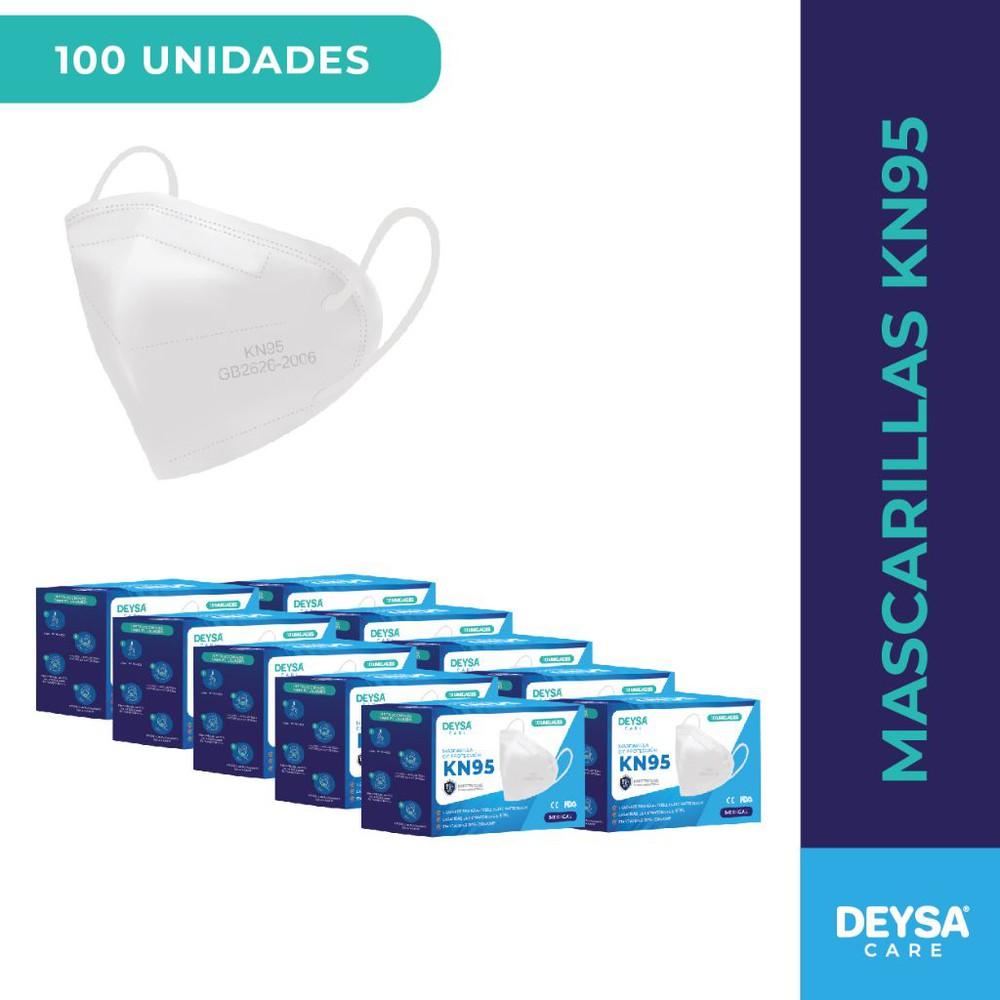 Mascarillas kn95 de 10 un, 10 cajas (100 un) Empaques: Display de 10 unidades c/u. Total 10 Cajas (100 unidades)
