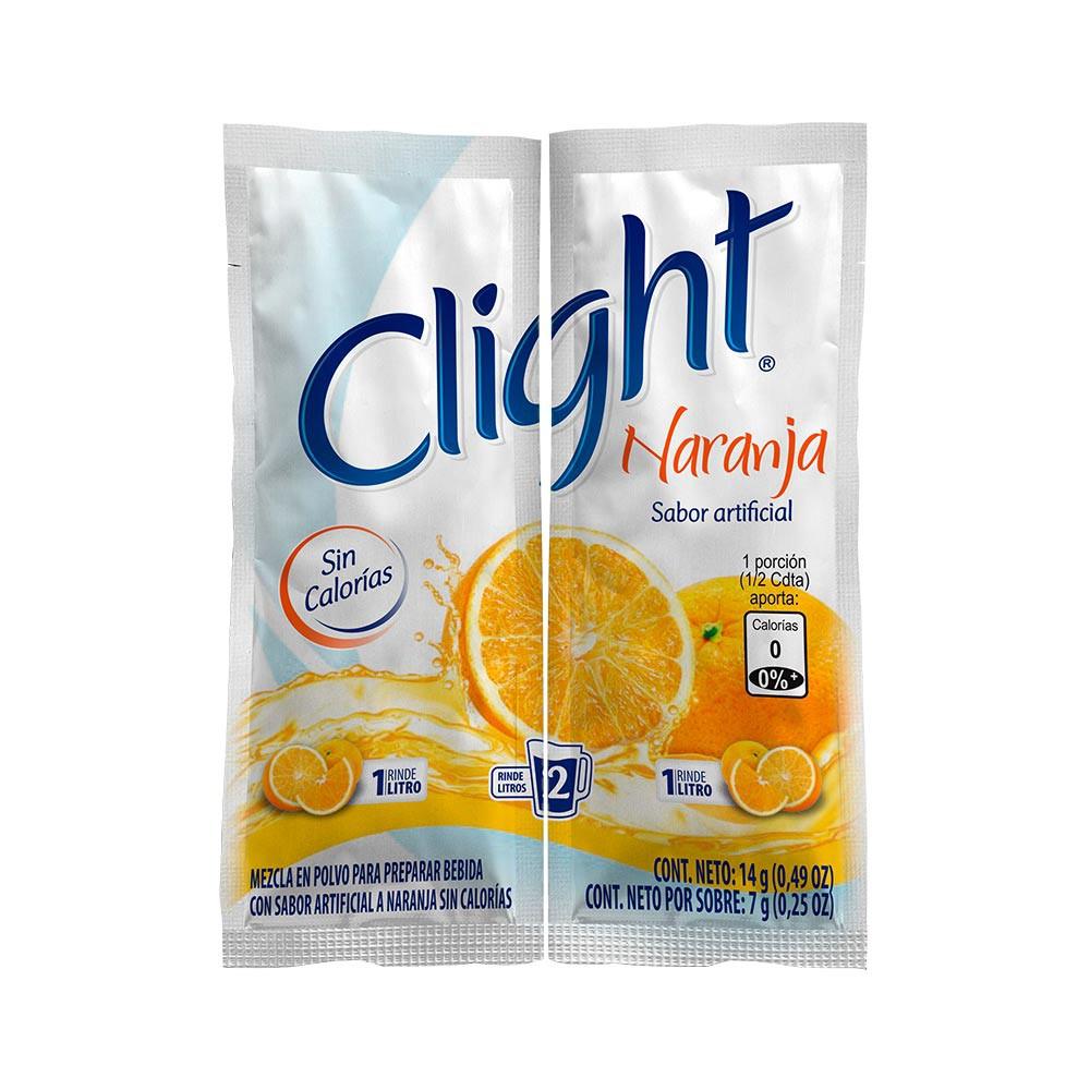 Bebida en polvo naranja