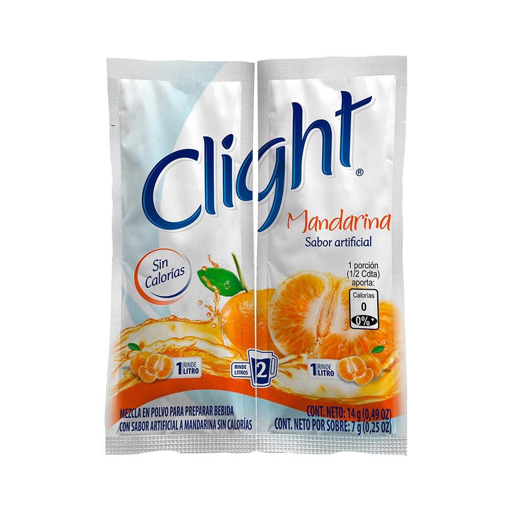 Bebida en polvo sin calorías sabor mandarina