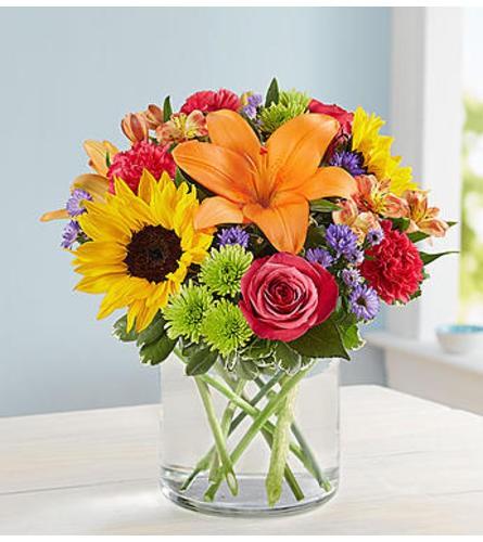 """Floral embrace - standard 11""""H x 11""""L"""