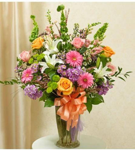 """Beautiful blessings vase arrangement - pastel 34""""H x 28""""L"""