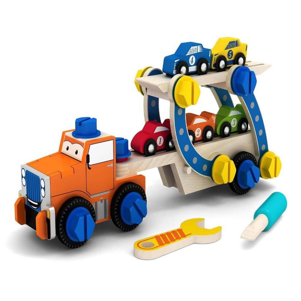 Camión con autos armable Caja de cartón