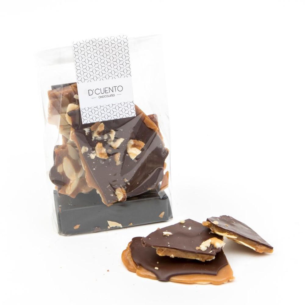 Tabletas toffee crocante - chocolate bitter 125g
