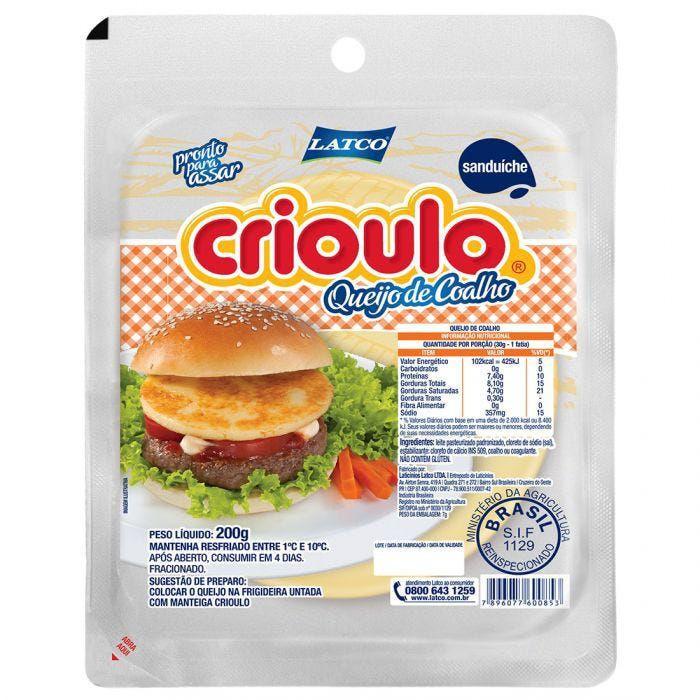 Queijo de coalho sanduíche Crioulo