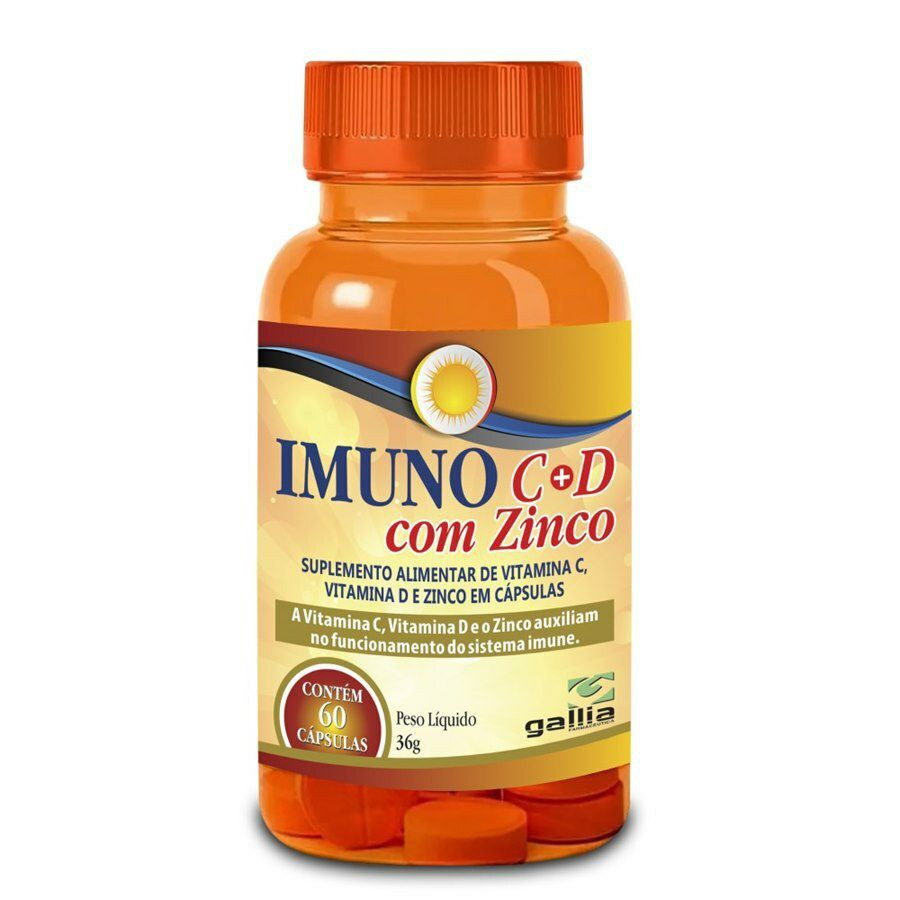 Suplemento alimentar de vitamina C e D com zinco