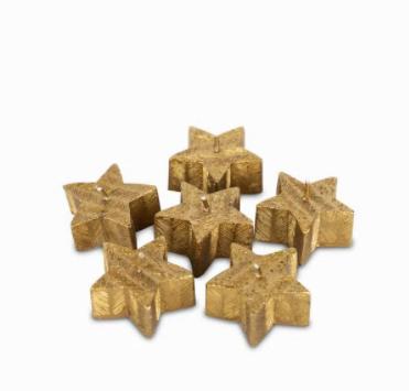 Set de velas estrellas doradas 15,4X11,3X27 Cm