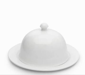 Quesera redonda porcelana 11,8X21,7X21,7 Cm