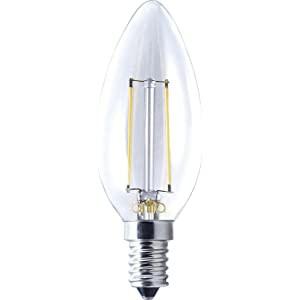 Lâmpada led vela lisa filamento e14 2w 220v 2700k