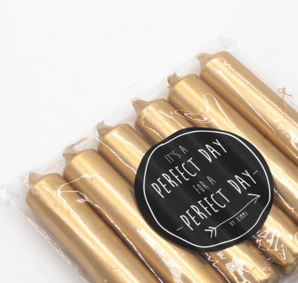 Set 6 velas white gold