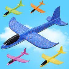 Avión planeador volador con luz led colores surtidos