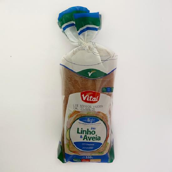 Pão light linho e aveia vital