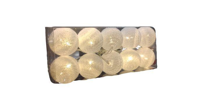 Luminária bolas branca 1 unidade